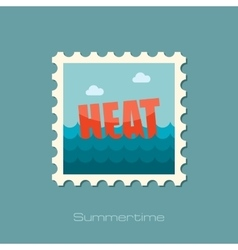 Heat flat stamp vector