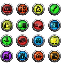 Business and Finance Web Icons vector image