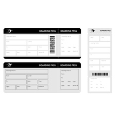 Set of black tickets vector