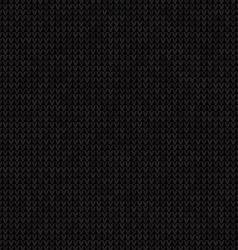 Knitted black seamless background flat style vector