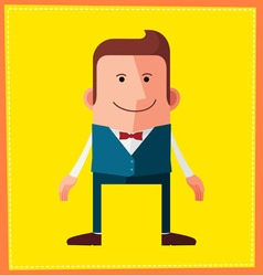 Flat style male avatar character design vector