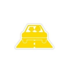 Icon sticker realistic design on paper car boys vector