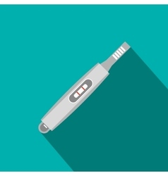 Electronic thermometer flat icon vector