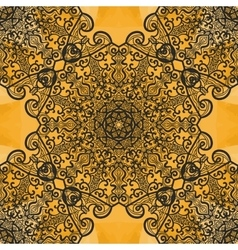 Symmetrical seamless mandala print on henna vector