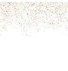 Colorful glitter shine texture on a white vector