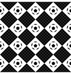 Football ball black white chess board diamond vector