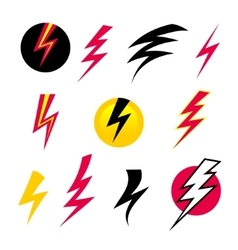 Set icons lightning vector