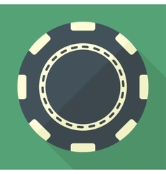Casino gambling chip flat icon vector