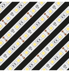Background of LED tapes vector image vector image