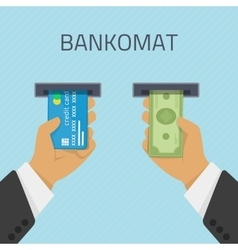 bankomat vector image