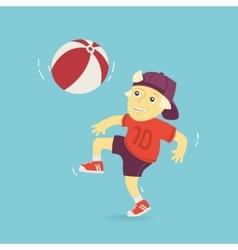 Boy Playing Ball vector image