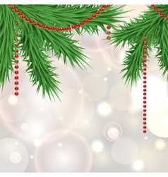 christmas sparkling background with christmas tree vector image vector image
