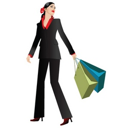 elegant shopper vector image