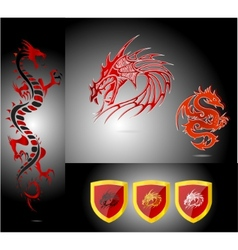emblems and dragons vector image