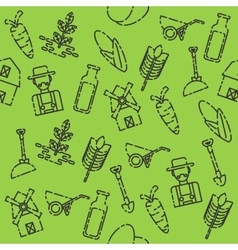 Farm set pattern vector image vector image