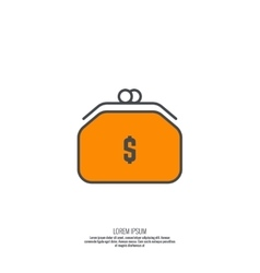 Female purse for money vector image