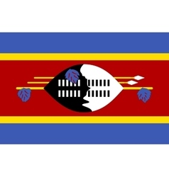 Flag of Swaziland correct size and colors vector image vector image