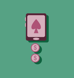 Flat icon design collection casino online in vector
