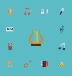 flat icons musical instrument tone symbol audio vector image