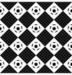 Football ball black white chess board diamond vector
