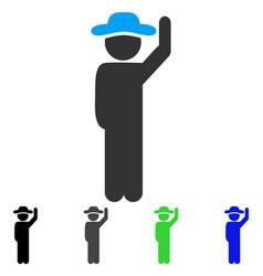 Gentleman hello flat icon vector