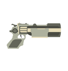 gun futuristic weapon blaster game laser space vector image vector image