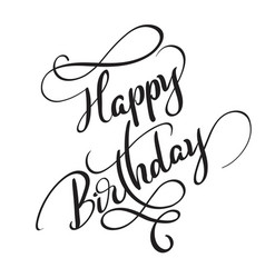 happy birthday words isolated on white background vector image vector image