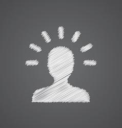 idea sketch logo doodle icon vector image