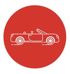 line art style cabriolet car icon vector image vector image