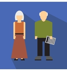 Man and woman in old age flat vector image vector image