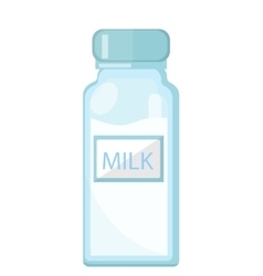 Milk in a glass bottle icon flat style Isolated vector image vector image