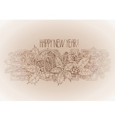 New Year card 2017 vector image vector image