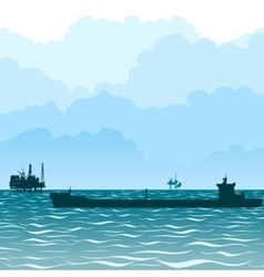 Oil tankers-1 vector image
