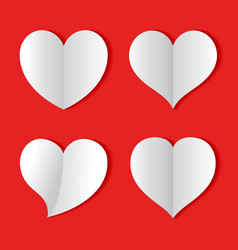 paper heart love background icon banner sign vector image