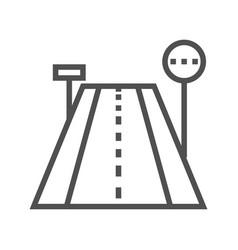 Road line icon vector