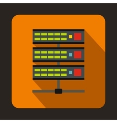 Servers icon in flat style vector image