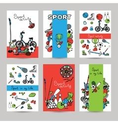 Sport Banner Set vector image