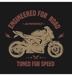 Sport bike emblem t-shirt graphics vector