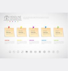 Sticker set headline infographic business vector