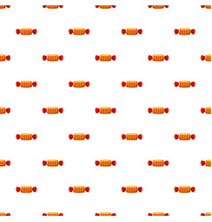 Sweet candy in striped wrap pattern vector