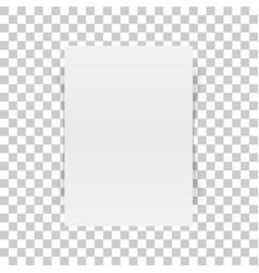 Vertical white paper document mockup vector