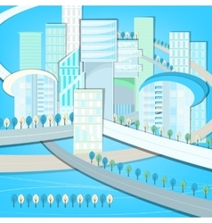 01 Eco City landscape vector image vector image