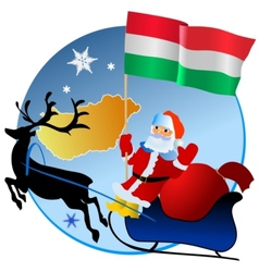 Merry christmas hungary vector