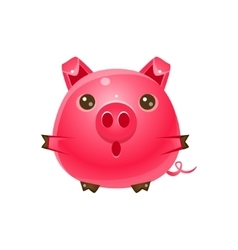 Pig baby animal in girly sweet style vector