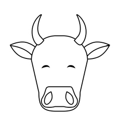 Indian cow head vector image