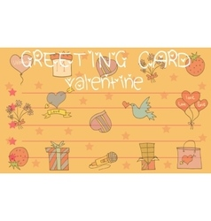 Valentine day style greeting card vector