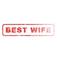 Best wife rubber stamp vector