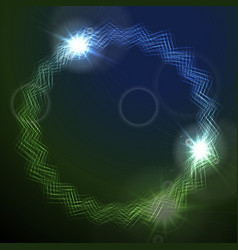 Glowing round lines design vector