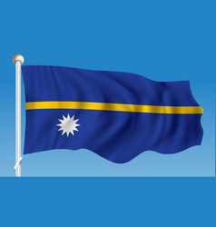 Flag of nauru vector