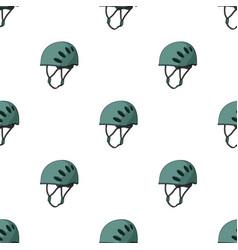 plastic helmet climbermountaineering single icon vector image